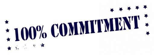 100% commitment with stars