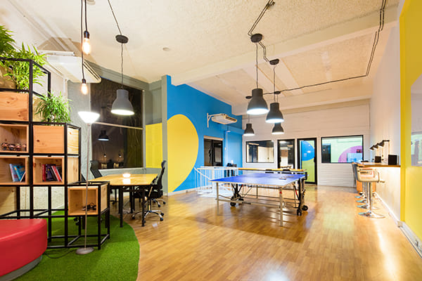 open spaced office